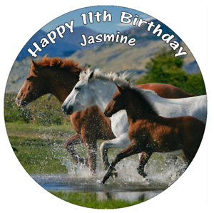 "Horse Pony Equine Edible Personalised Cake Topper 7.5/"" Edible Wafer Paper"