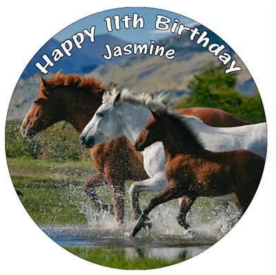 "Horse Pony Equine Edible Personalised Cake Topper 7.5/"" Edible Wafer Paper."