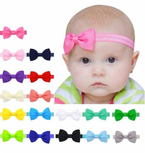 Baby Kinder Stirnband SCHLEIFE Haarband Mädchen Haarschmuck FARBWAHL