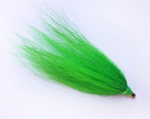 "Green BTG LOT OF 10 SEA STRIKER Bucktail Teaser Fishing Lures 3/"" Unrigged"
