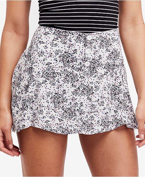 Free People Womens Alternative OB775541 Skirt Mini Ivory Combo Multi Size XS