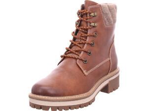 Details zu Tamaris Damen Da. Stiefel Winter Stiefel Boots Stiefelette warm Schnürer braun
