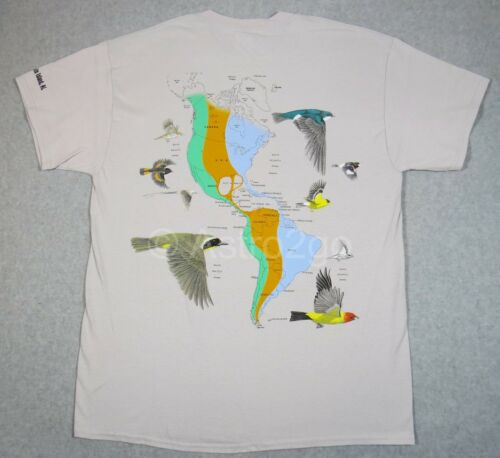CHARDONNERET avaler Hummingbird Nature Science T shirt M-2XL Migration des OISEAUX ROBIN