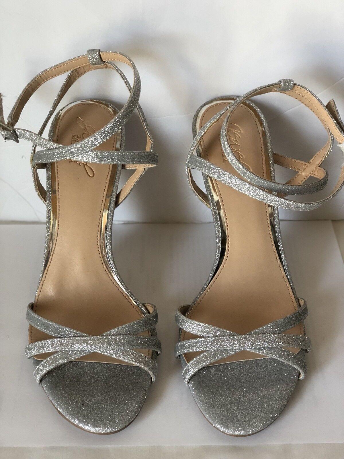 grande vendita Jewel Badgley Mischka Mischka Mischka Aliza Sandal, 81 2 Metallic  promozioni
