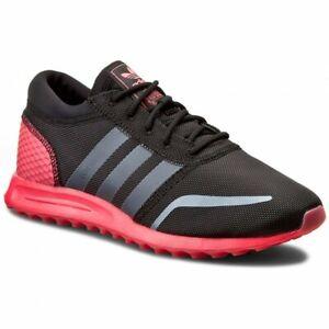 Realmente Sucio pasta  Adidas Originals Para Hombre Los Angeles Zapatillas Zapatos Negro/Rosa  S75998 Reino Unido 12, 13 | eBay