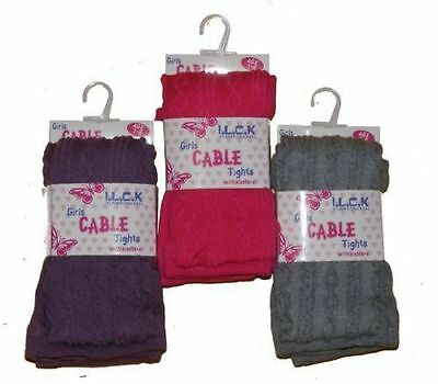 GIRLS I.L.C.K CABLE KNIT TIGHTS COTTON RICH WITH ELASTANE 46B200