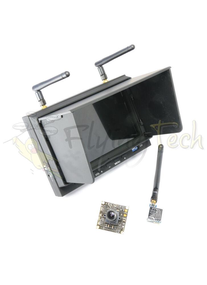 Fullständig FPV- inställning - Camera, UK Legal Transmitter, Monitor Mottagare - UK Stock