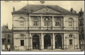 SEDAN-France-1910-20-CPA-Hotel-de-Ville-Rathaus-AK-alte-Postkarte-Frankreich