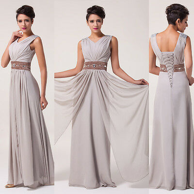 new Ladies Cocktail Chiffon Evening Dress Homecoming Bridesmaid Stain Gown Maxi