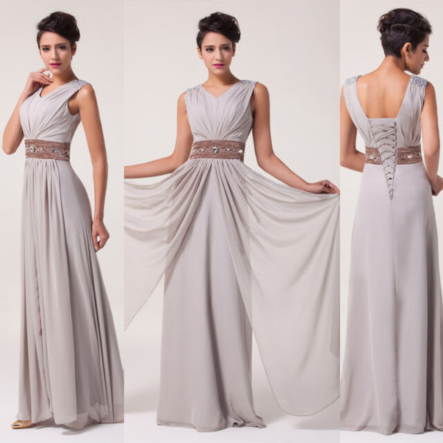 Women Dresses Formal Long Chiffon Bridesmaid Evening Prom Party Homecoming Gowns