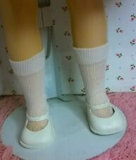 """IVORY ANKLE TIE SHOES WHITE SOCKS fit 15/"""" SWEET SUE or DOLL w//1 1//2/"""" X 3//4/"""" FOOT"""