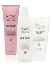 Natio Rosewater Hydration Starter Set - 3 full size products, Face