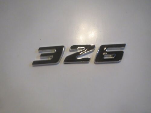 BLACK PONTIAC CHEVROLET 326 ENGINE ID FENDER HOOD SCOOP QUARTER TRUNK EMBLEM