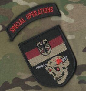 Kommando Spezialkräfte JTF KSK 2-PATCH SET: Bundeswehr SP OPS Tab + German Flag