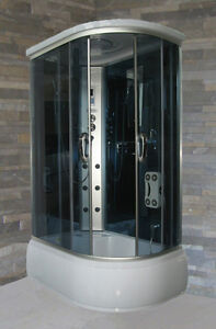 Cabina e vasca Idromassaggio multifunzione 120x80 Massaggio Box ...