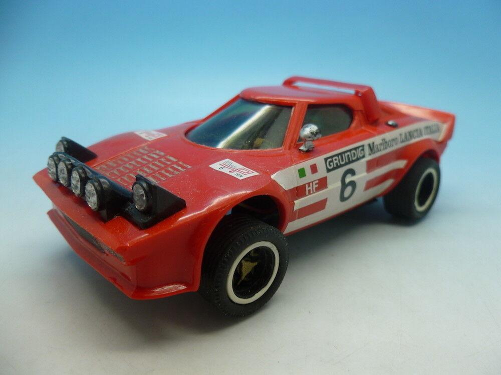 Scalextric Lancia Stratos mint car No 6, intersting wheels and no white v to bon
