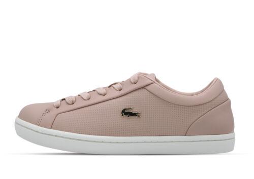 Lacoste Straightset Natural Navy 735CAW0065NN2 Sneaker rosa Women +Neu+