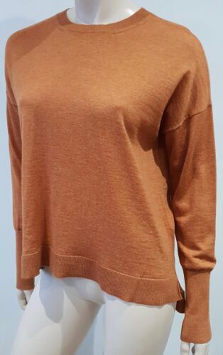 Sleeve S Sweater Wool Acne Neck Top Long Rust Jumper Round Merino Orange Zola T8nxvUT7a