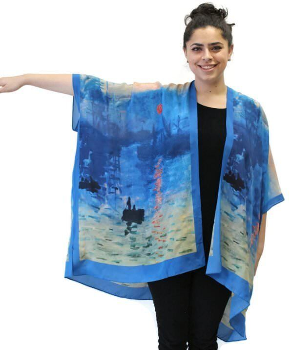 Sunrise Silk Long Kimono Jacket OverGrößed    One Größe Plus  NWT