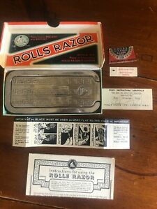 Vintage-Rolls-Razor-Imperial-No2-Made-in-England-Original-Paperwork-Bill-of-Sale