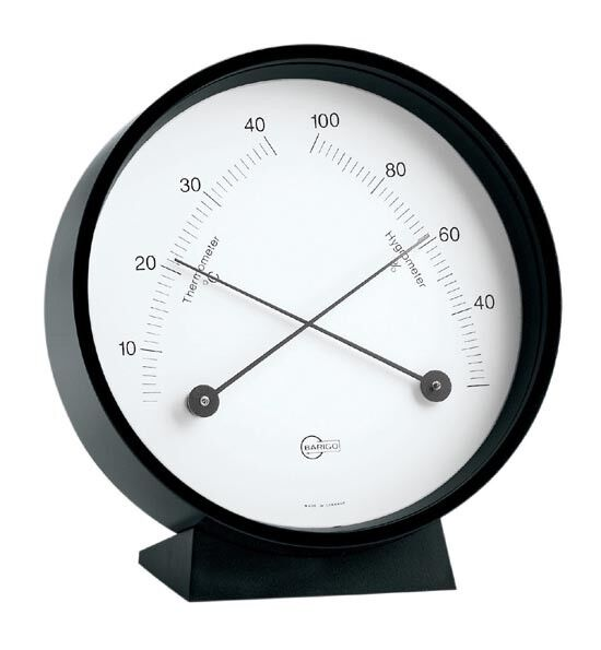 Thermometer / Hygrometer Barigo Home Home Home Schwarz Hängen / Stellen 85MM 5694b1
