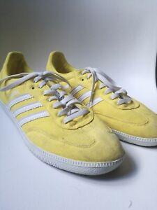 Adidas-Originals-Lemon-Yellow-White-Samba-Trainer-Canvas-Rare-Collectable-10