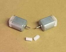 2 x 3v 3 volt 13100 Rpm DC Motor FOR MODELS SCHOOL PROJECTS FREE 6MM  WORM GEAR