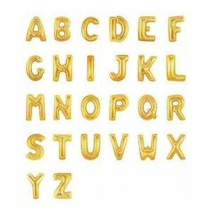 32-034-GOLD-Foil-Helium-Letters-Numbers-Bunting-Banner-Party-Balloon-Wedding