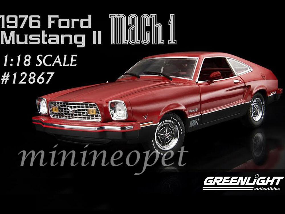 Grünlight 12867 1976 76 ford mustang mach 1 1   18 - ein diecast modell auto rot