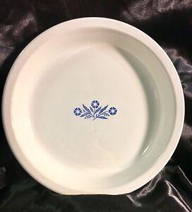 Vintage-Corning-Ware-Blue-Cornflower-9-Pie-Quiche-Plate-P-309-USA-Made