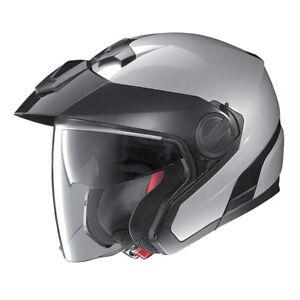 Nolan-Jethelm-N40-Special-silber-salt-silver-M-57-58-Helm-mit-Sonnenblende