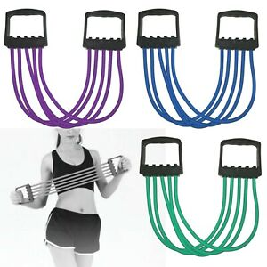 Details about 5-Spring Rubber Yoga Chest Expander Pull Stretcher Gym  Exercise Muscle Training