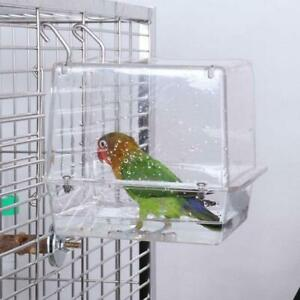 Double-Hook-Hanging-Upgraded-Bird-Bath-Cage-Adjustable-Large-with-Clear-View-Pet