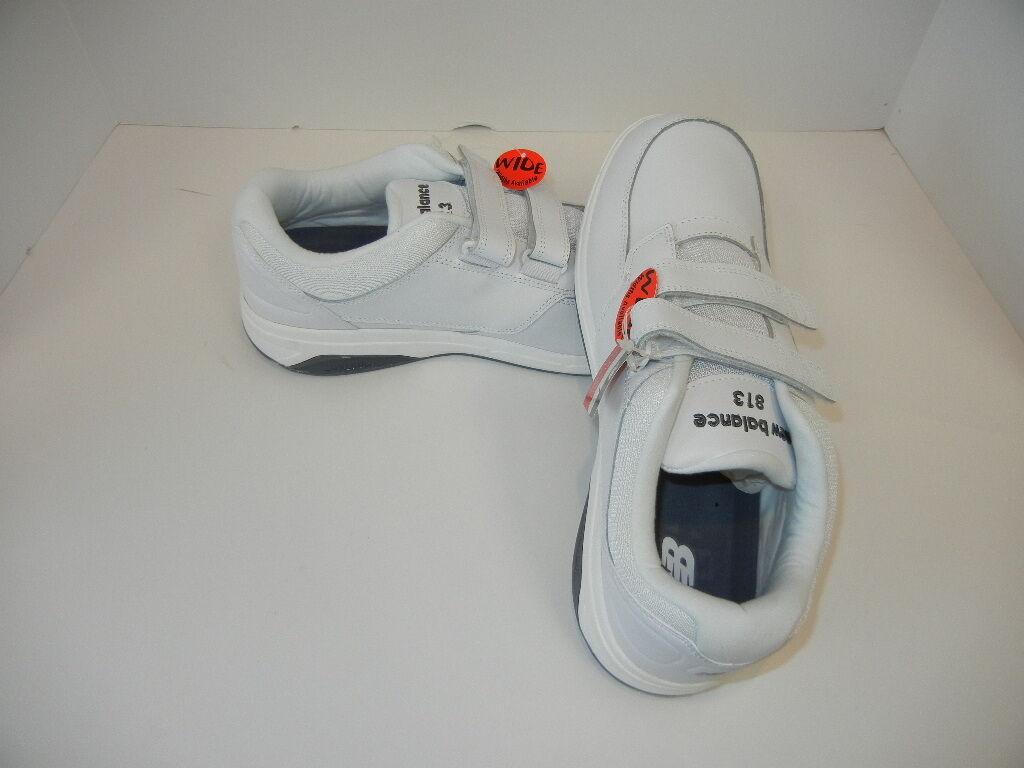 New Balance Men's MW813 Hook Walking & Loop and  Walking Hook Shoes White, Black and Gray New 79bd3b