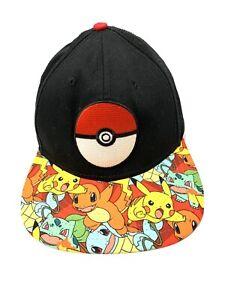 Pokemon-Snapback-Black-Hat-Pikachu-Char-Nintendo