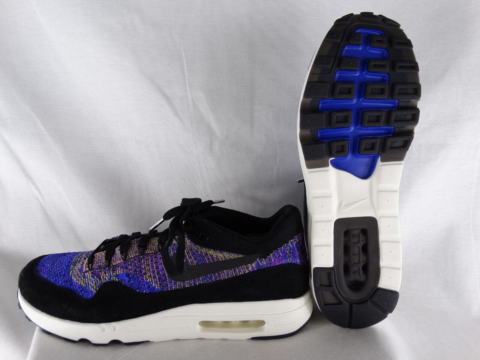 NikeLab Air Max 1 Flyknit Sneaker blau-schwarz-lila EU 43 US 9,5