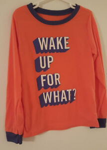 Boys Pajama Top Sleep Top Long Sleeve Dark Green Waffle Knit New Size 8