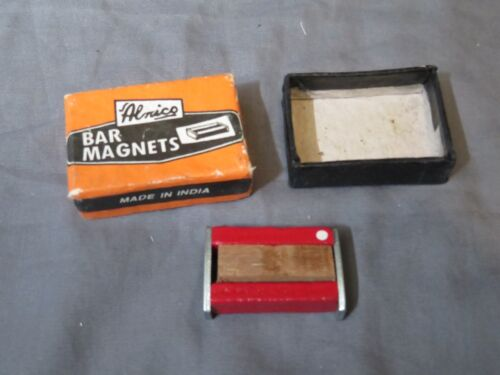 "New in Orange Box 1.5"" Vintage Alnico Bar Magnets Made in India from Alloy"