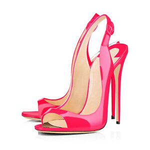 onlymaker-Women-039-s-Heeled-Sandals-Slingback-High-Heel-Stiletto-Pumps-Pink-Shoes