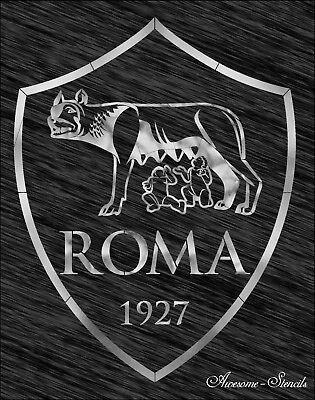 Stencil As Roma Logo Football Reusable Pattern Wall Art Sport Ebay