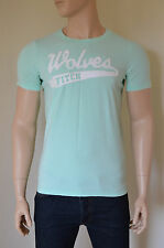 NUOVO Abercrombie & Fitch uragano Mountain Destroyed TEE T-SHIRT VERDE MENTA M