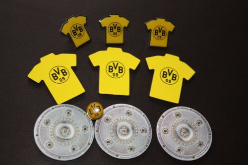 Trikot Pins XXL Meisterset 2012 Borussia Dortmund BVB 10 teilig Magnete