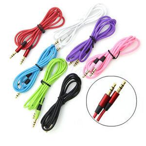 3-5mm-Klinke-Stecker-auf-Stecker-Stereo-AUX-Kabel-Schnur-fuer-DVD-PC-MP4-iPo-C6A6