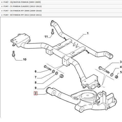 KIT COMPLETO SILENTBLOCK BRACCIO POSTERIORE FIAT PANDA 4x4 PER 51932971