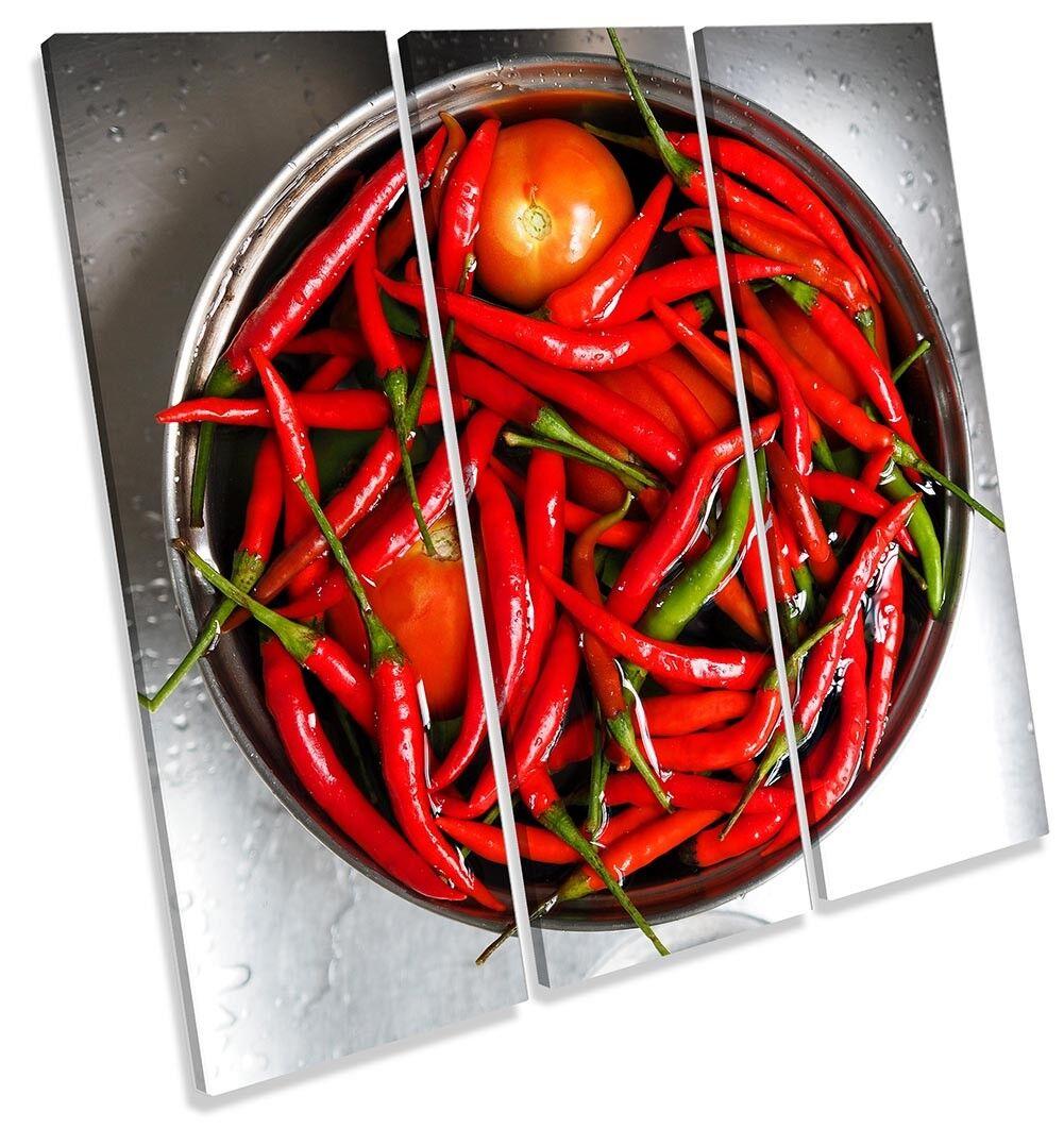 Tazón De Cocina  Rojo  Chile impresión de arte agudos de LONA pa rojo  arte de enmarcado 951633