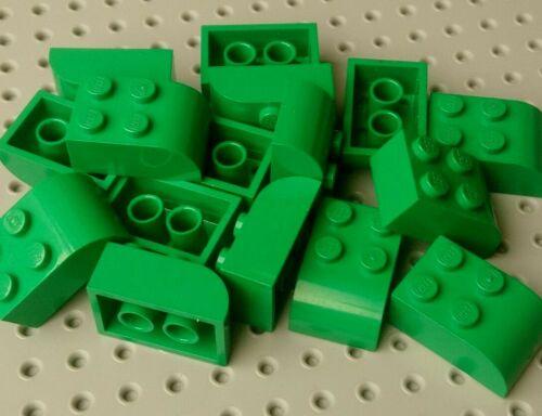 Green x16 6215 Lego Slope Rounded 3x2
