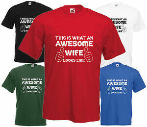 Awesome-femme-t-shirt-Valentine-Cadeau-Noel-present-cool-Anniversaire-Amusant-Anniversaire