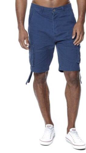 """NUOVA linea uomo Firetrap Erik Combat Pantaloni corti con tasconi colore Denim scuro W30/"""" Girovita 30/"""""""