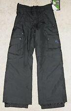 NEW Youth Boys Triple Nickel 555 Snow Pants 8 Black Storm Block Ski Pant