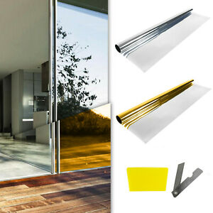 Spiegelfolie Selbstklebend UV Sonnenschutz Folie Fenster Glas
